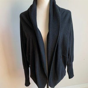 Wilfred Aritzia cocoon heathered black diderot